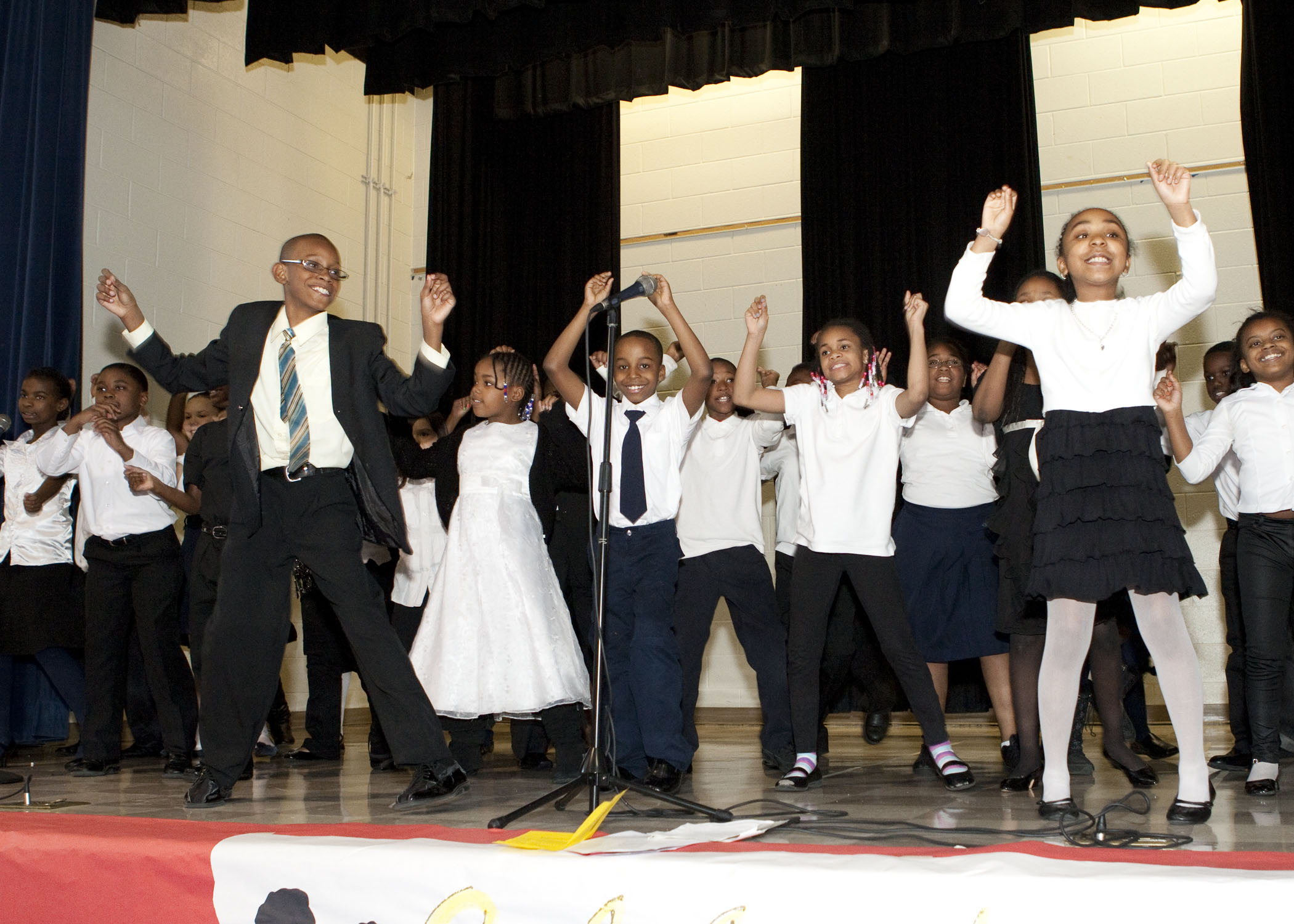 black history month talk up aps l p miles elementary celebrated black history month its annual program friday parents and community members were delighted by the talent of the
