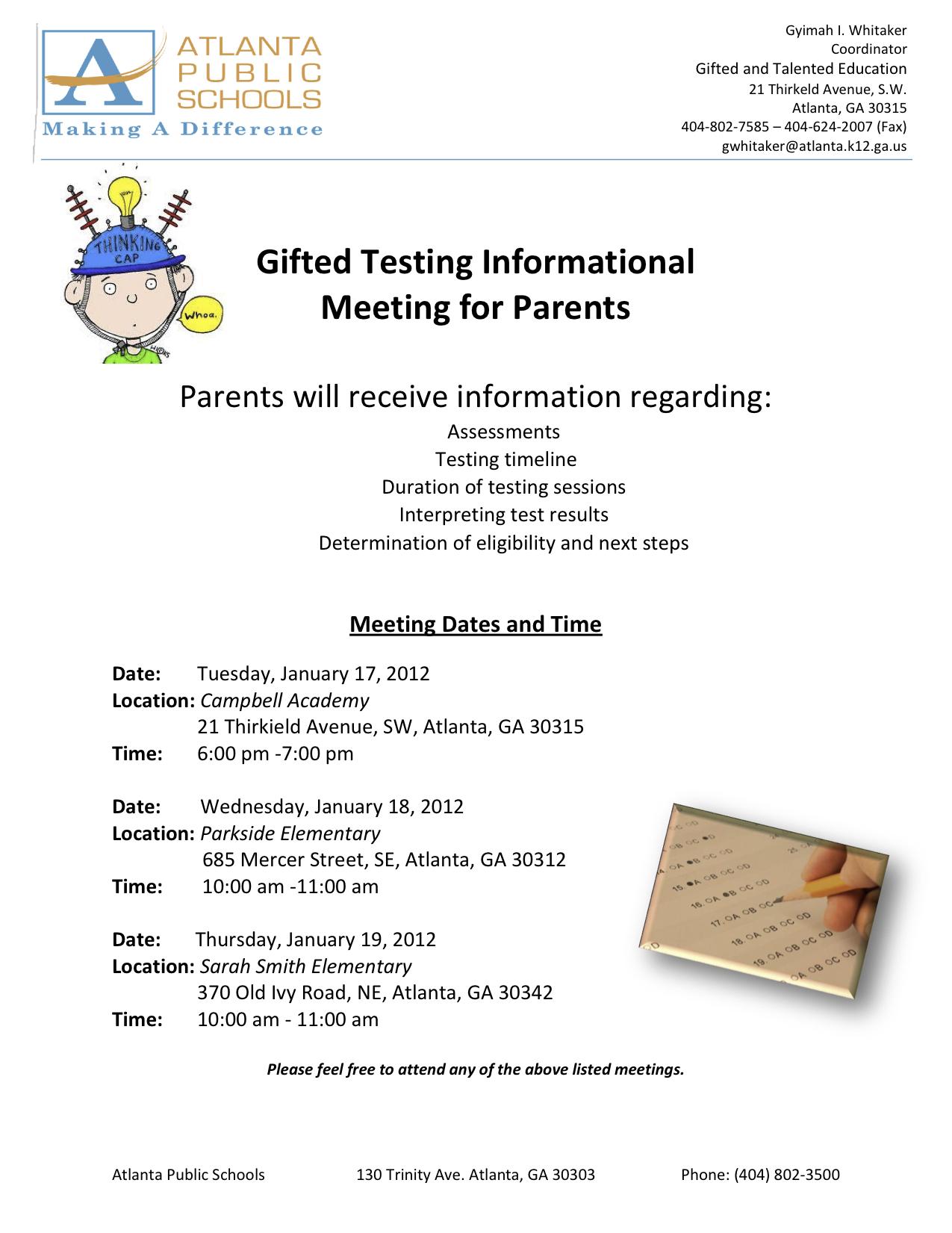 Sample Letter For Gifted Testing