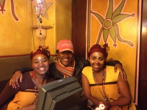 Africa Cafe(Cape Town) with local people