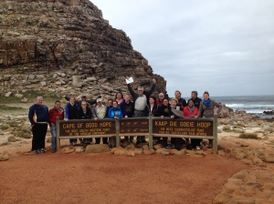 Group Pic-Cape of Good Hope(southernmost point of Africa)