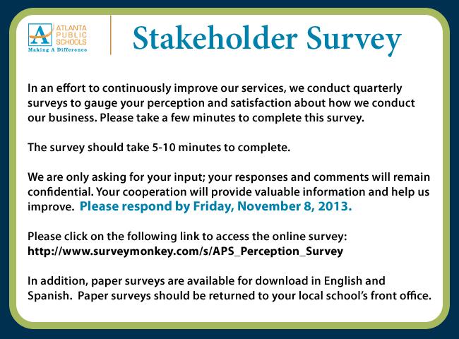 ENG_stakeholder-survey_EBLAST_externalcomm_Nov8_2013
