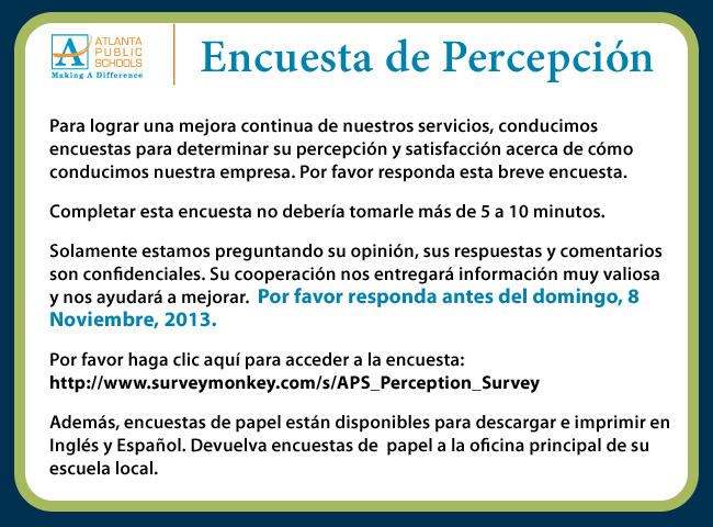 SPA_APS stakeholder survey_EBLAST_externalcommunity_Nov 8_2013