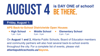 Day One Graphic with Open House Only