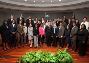 Atlanta Public Schools newly-appointed principals pictured with members of the Atlanta Board of Education.
