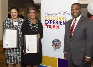 Atlanta Public Schools Superintendent Dr. Meria J. Carstarphen and Camille Russell Love, executive director of the Mayor's Office of Cultural Affairs received proclamations from Atlanta City Council President Ceasar C. Mitchell, celebrating 10 years of the Cultural Experience Project for APS students.