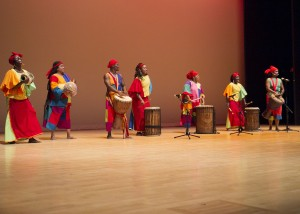 Giwayen Mata, an Atlanta-based percussion dance group, performed for 800 APS students during the Cultural Experience Project 10th Anniversary celebration at the Rialto Theater.