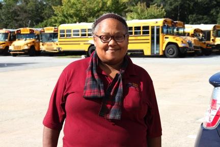 Bus Monitor Deborah Davis  worked in nursing before joining APS in 1996.