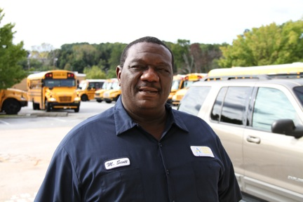 Mechanic Melvin Scott is an APS graduate and has been working for the district 18 years.