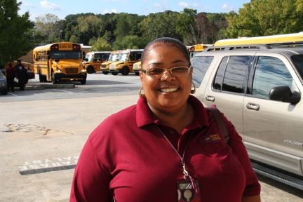 Bus Driver Regina Strickland is an APS graduate and has worked for the district 27 years.