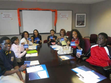 Atlanta Public Schools MARTA interns: Andre Jackson, B.E.S.T. Academy High School, Customer Service;  Samaria Christian, Coretta Scott King Young Women's Leadership Academy, Recruiting; Vanessa West, Mays High School, Accounting; Paris Johnson, Coretta Scott King Young Women's Leadership Academy, Accounting; Deaundra Pullins, Coretta  Scott King Young Women's Leadership Academy, Engineering; Melia Sharp, Coretta Scott King Young Women's Leadership Academy, Legal Services; Mya Williams, Therrell High School, Department of Equal Opportunity; and Jahkwen Edwards, Douglass High School, TOD-Real Estate.