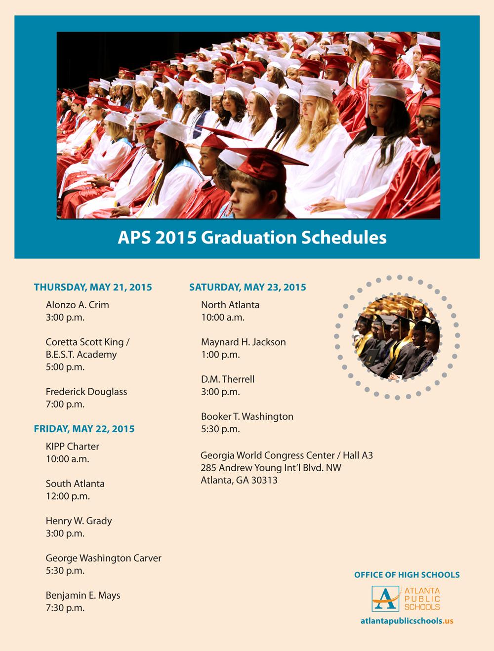 2015-APS-graduation-schedules