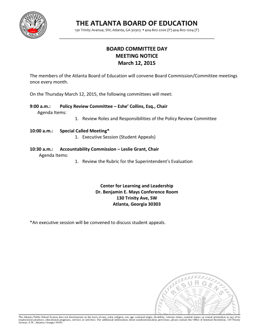 Board Committee Day 03122015