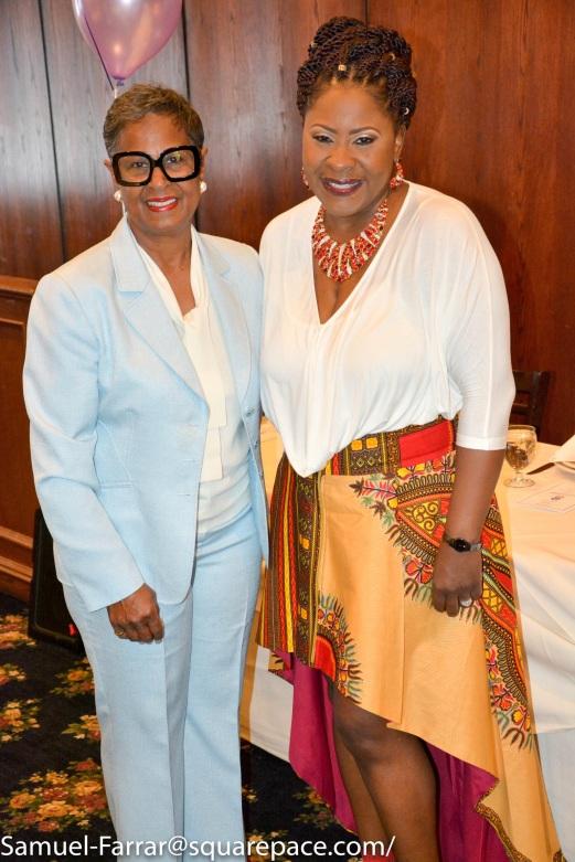 Latanya Farrar with Keynote Speaker Brenda Muhammad, former APS board member