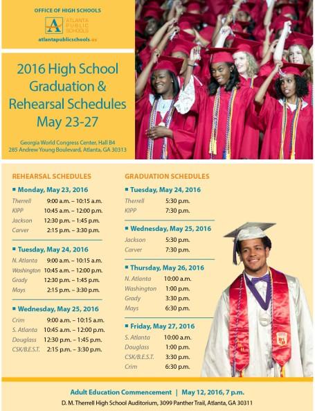 3r3-2016 APS rehearsal-graduation schedules