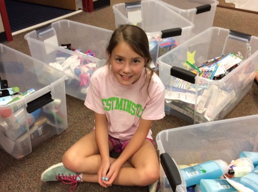 The service project was created by fifth grader Ceci Motley
