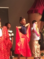 First grader Lorelei Ramphal danced and celebrated Mexican culture.