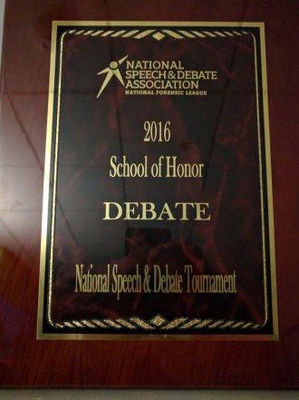 Grady HS_2016 Natl Speech & Debate Tournament