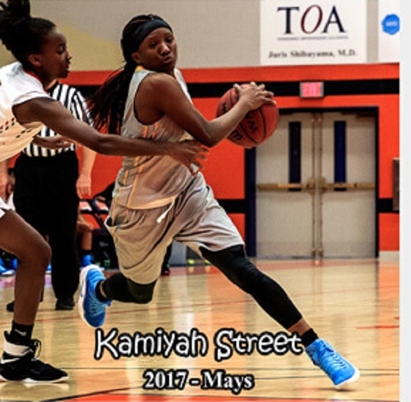 Kamiyah Street - Mays girls basketball 2017