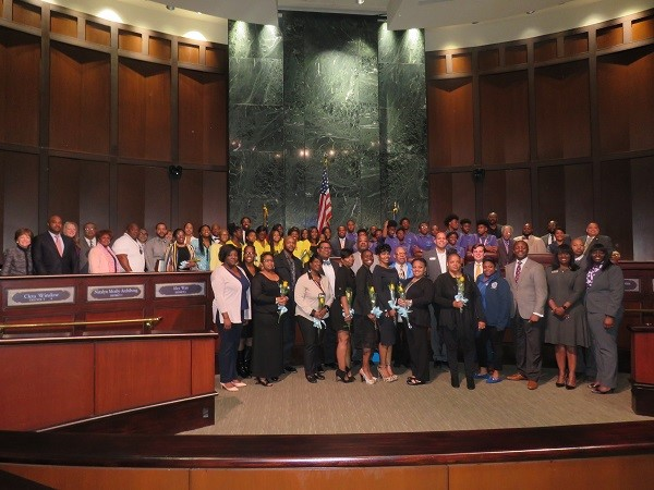 Mays girls, South Atlanta boys honored at City Hall (3-20-17)