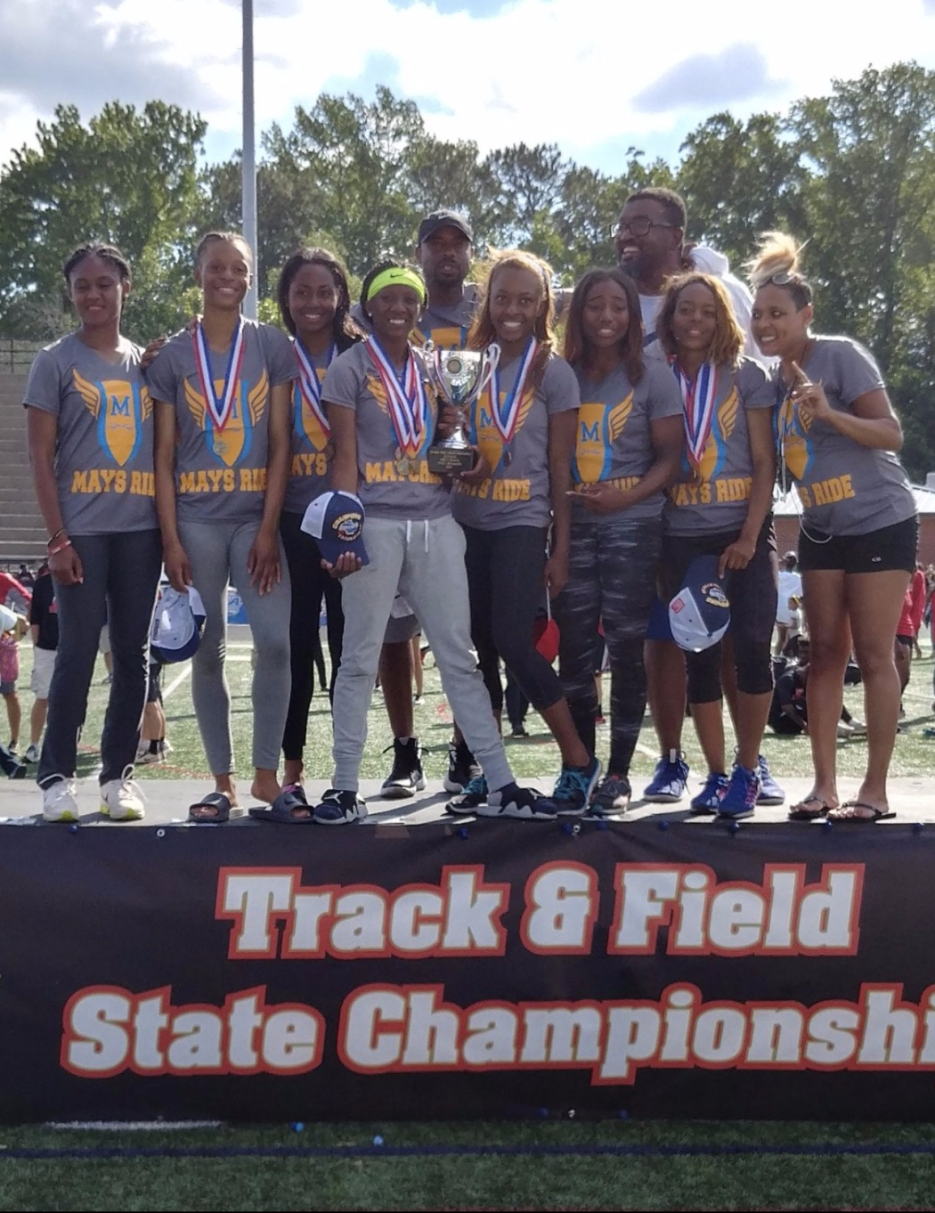 Mays Girls Track and Field 2017 Class 6A State Champs