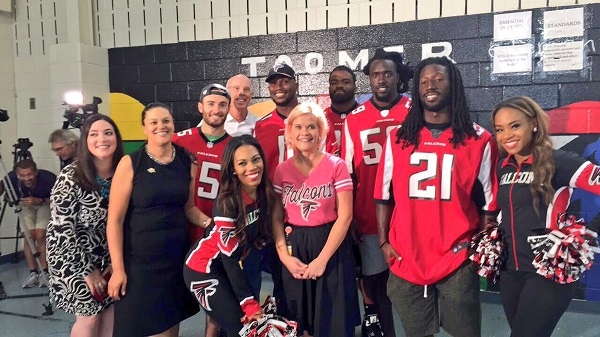 Falcons and Dr. C at Toomer ES