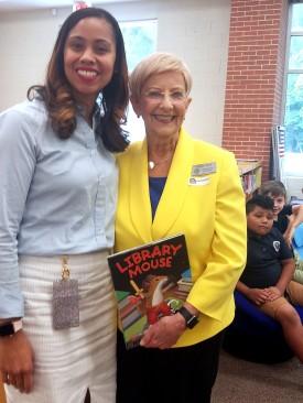 Bolton Academy Principal Anita Lawrence with Georgia First Lady Sandra Deal