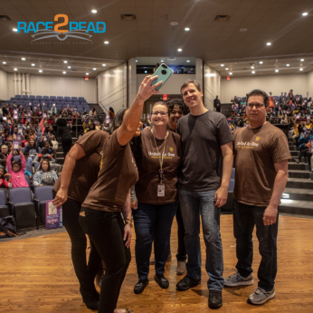 UPS co-sponsored New York Times best-selling author/cartoonist Jeff Kinney's visit to APS.
