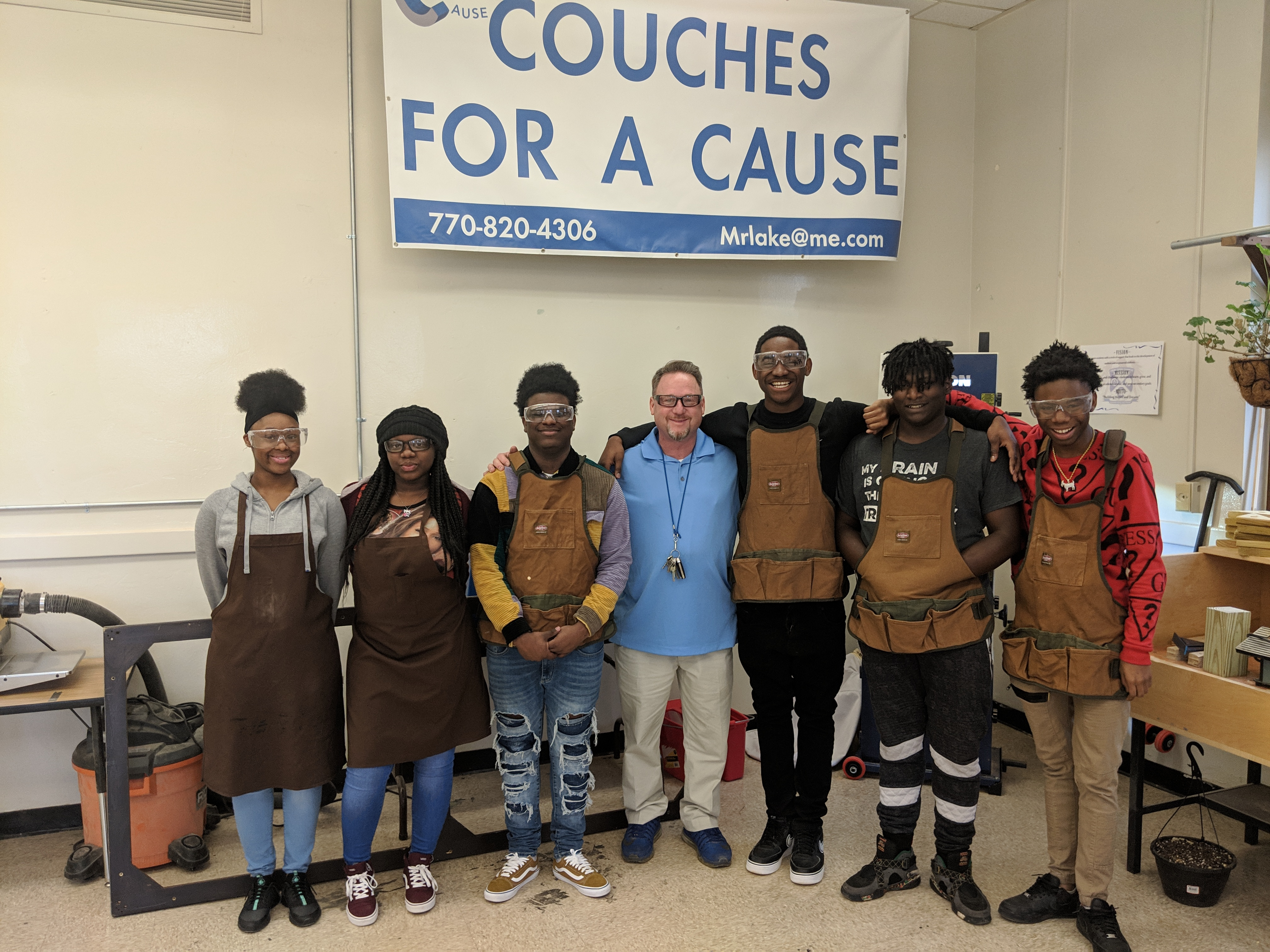 Couches For A Cause Crim Students Combine Carpentry Skills